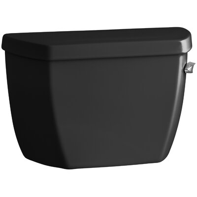 Highline Classic 1.0 GPF Toilet Tank with Tank Cover Locks and Right-Hand Trip Lever Finish: Black Black
