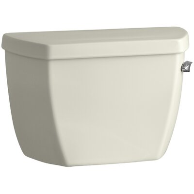 Highline Classic 1.0 GPF Toilet Tank with Tank Cover Locks and Right-Hand Trip Lever Finish: Biscuit