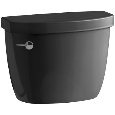 Cimarron 1.28 GPF High Efficiency Toilet Tank with Aquapiston Flush Technology and Insuliner Tank Liner Finish: Black Black