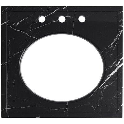 Kathryn Undermount 24 Single Bathroom Vanity Top Top Finish: Nero Marquina Marble