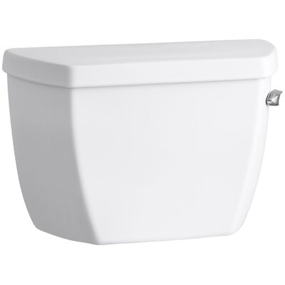 Highline Classic 1.0 GPF Toilet Tank with Tank Cover Locks and Right-Hand Trip Lever Finish: White