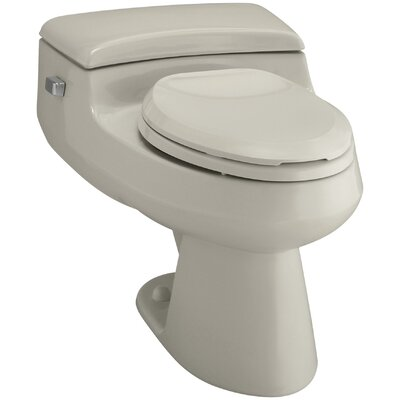 San Raphael Comfort Height One-Piece Elongated 1.0 GPF Toilet with Pressure Lite Flush Technology and Left-Hand Trip Lever Finish: Sandbar