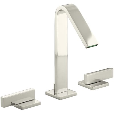 Loure Widespread Bathroom Sink Faucet Finish: Vibrant Polished Nickel