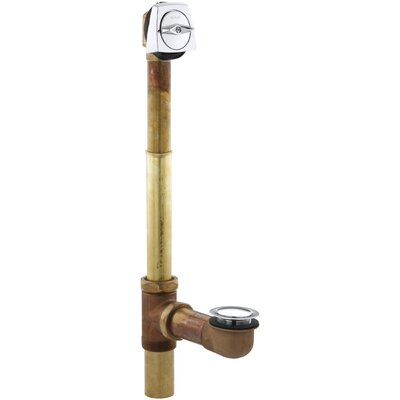Clearflo 2 Adjustable 3.69 Trip Lever Bathroom Sink Drain Finish: Polished Chrome