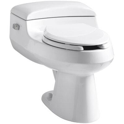 San Raphael Comfort Height One-Piece Elongated 1.0 GPF Toilet with Pressure Lite Flushing Technology, Includes Seat Finish: White
