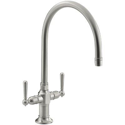 Hirisesingle Double Handle Kitchen Faucet Finish: Brushed Stainless