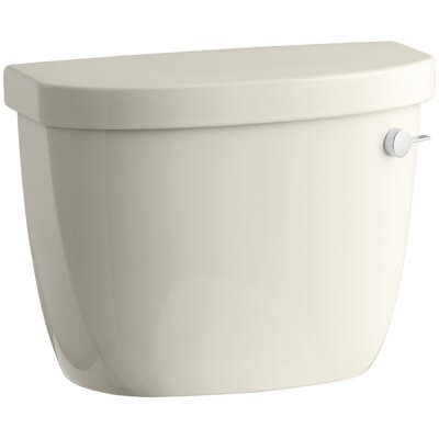 Cimarron 1.28 GPF High Efficiency Toilet Tank with Aquapiston Flush Technology, Insuliner Tank Liner and Right-Hand Trip Lever Finish: Almond