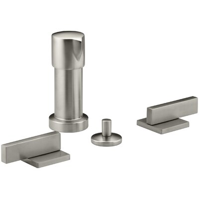 Loure Vertical Bidet Faucet with Lever Handles Finish: Vibrant Brushed Nickel