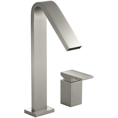 Loure Deck-Mount High-Flow Bath Faucet Finish: Vibrant Brushed Nickel