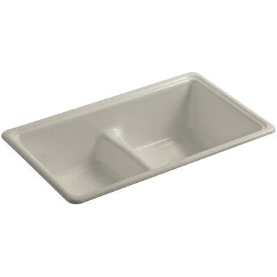Deerfield 33 x 19-3/8 x 9-5/8 Top-Mount/Under-Mount Smart Divide Double-Equal Bowl Kitchen Sink Finish: Sandbar