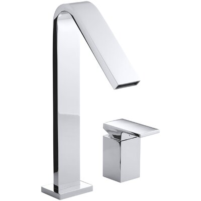 Loure Deck-Mount High-Flow Bath Faucet Finish: Polished Chrome