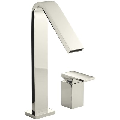 Loure Deck-Mount High-Flow Bath Faucet Finish: Vibrant Polished Nickel