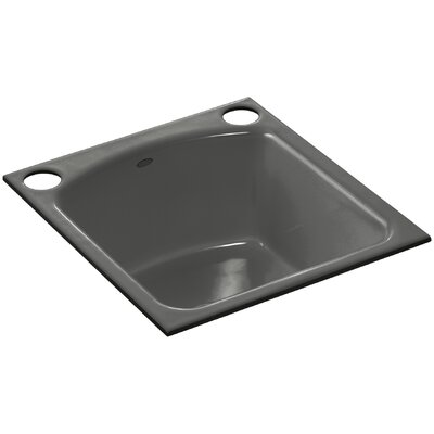 Napa Under-Mount Bar Sink with 2 Oversize Faucet Holes Finish: Thunder Grey
