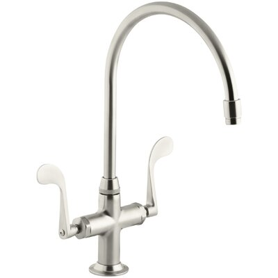 Essex Single-Hole Kitchen Sink Faucet with 9 Gooseneck Spout Finish: Vibrant Brushed Nickel
