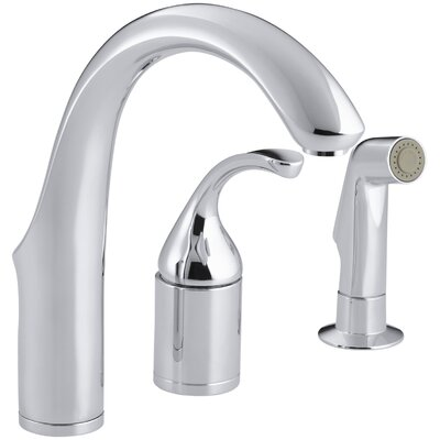 Fort� Three-Hole Remote Valve Kitchen Sink Faucet with Sidespray Finish: Polished Chrome