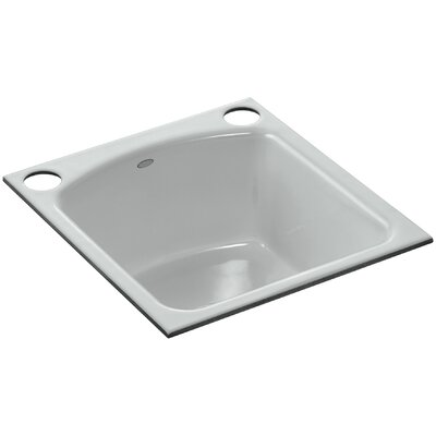 Napa Under-Mount Bar Sink with 2 Oversize Faucet Holes Finish: Ice Grey