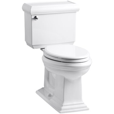 Memoirs Classic Comfort Height Two-Piece Elongated 1.28 GPF Toilet with Aquapiston Flush Technology and Left-Hand Trip Lever Finish: White