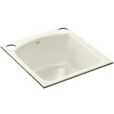 Napa Under-Mount Bar Sink with 2 Oversize Faucet Holes Finish: Biscuit