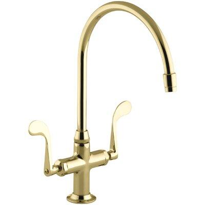 Essex Single-Hole Kitchen Sink Faucet with 9 Gooseneck Spout Finish: Vibrant Polished Brass