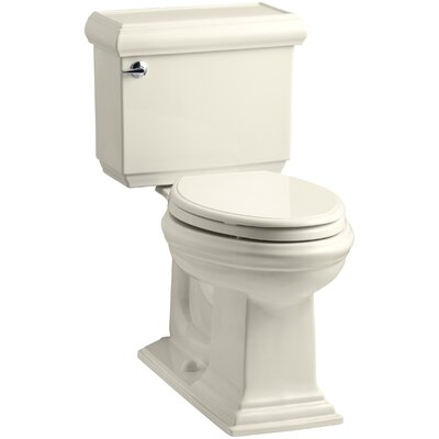 Memoirs Classic Comfort Height Two-Piece Elongated 1.28 GPF Toilet with Aquapiston Flush Technology, Left-Hand Trip Lever and Insuliner Tank Liner Finish: Almond