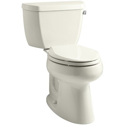 Highline Classic Comfort Height Two-Piece Elongated 1.28 GPF Toilet with Class Five Flush Technology and Right-Hand Trip Lever Finish: Biscuit