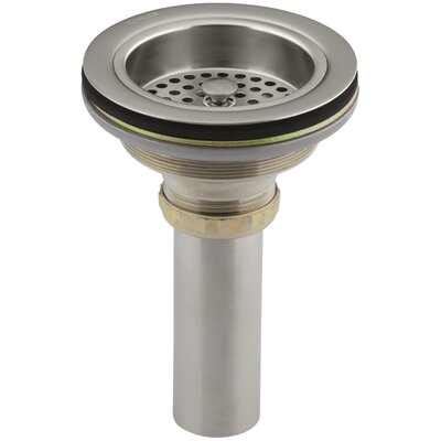 Duostrainer Manual 1.5 Grid Kitchen Sink Drain Finish: Vibrant Brushed Nickel