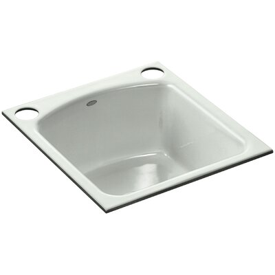 Napa Under-Mount Bar Sink with 2 Oversize Faucet Holes Finish: Sea Salt