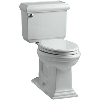 Memoirs Classic Comfort Height Two-Piece Elongated 1.28 GPF Toilet with Aquapiston Flush Technology, Left-Hand Trip Lever and Insuliner Tank Liner Finish: Ice Grey