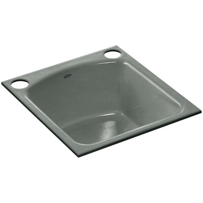 Napa Under-Mount Bar Sink with 2 Oversize Faucet Holes Finish: Basalt