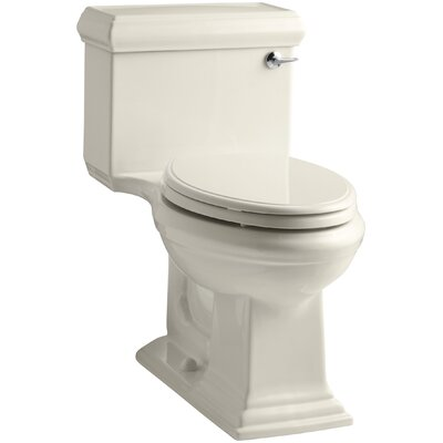Memoirs Classic Comfort Height One-Piece Elongated 1.28 GPF Toilet with Aquapiston Flush Technology and Right-Hand Trip Lever Finish: Almond
