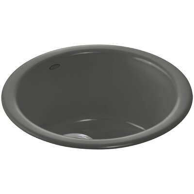Porto Fino Top-Mount/Under-Mount Bar Sink Finish: Thunder Grey