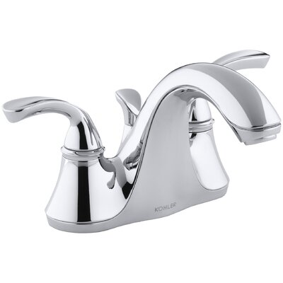 Forte Centerset Double Handle Bathroom Faucet with Drain Assembly Finish: Polished Chrome