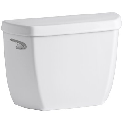Wellworth Classic 1.28 GPF Toilet Tank with Class Five Flushing Technology and Left-Hand Trip Lever with Tank Locks Finish: White