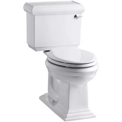 Memoirs Classic Comfort Height Two-Piece Elongated 1.28 GPF Toilet with Aquapiston Flush Technology and Right-Hand Trip Lever Finish: White