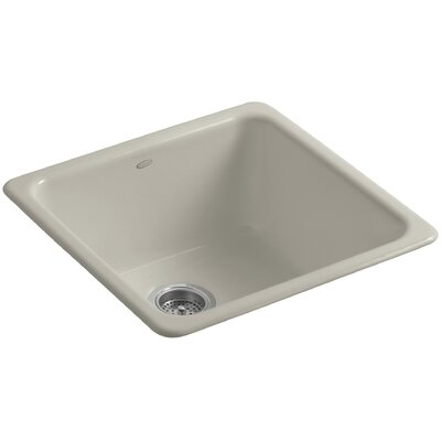 Iron Tones 20-7/8 x 20-7/8 x 10 Top-Mount/Under-Mount Single-Bowl Kitchen Sink Finish: Sandbar
