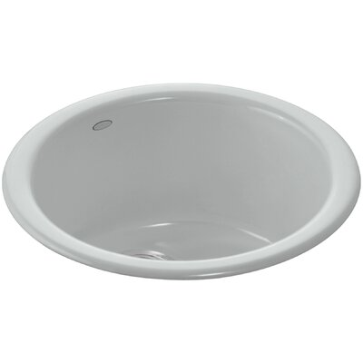 Porto Fino Top-Mount/Under-Mount Bar Sink Finish: Ice Grey