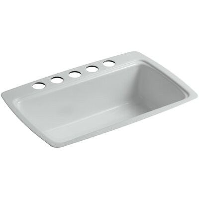 Cape Dory 33 x 22 x 9-5/8 Under-Mount Single-Bowl Kitchen Sink with 5 Oversize Faucet Holes Finish: Ice Grey