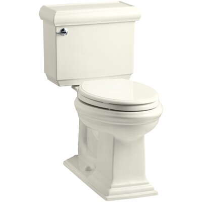 Memoirs Classic Comfort Height Two-Piece Elongated 1.28 GPF Toilet with Aquapiston Flush Technology, Left-Hand Trip Lever and Insuliner Tank Liner Finish: Biscuit
