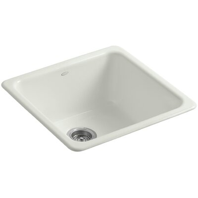 Iron/Tones 20-7/8 x 20-7/8 x 10 Top-Mount/Under-Mount Single-Bowl Kitchen Sink Finish: Dune