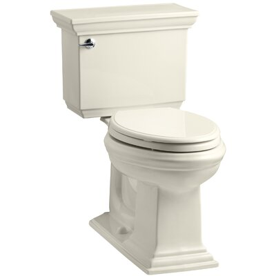 Memoirs Stately 1.28 GPF Elongated Two-Piece Toilet Finish: Almond