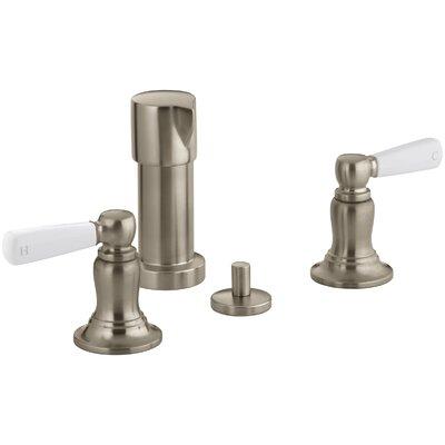 Bancroft Vertical Spray Bidet Faucet with White Ceramic Lever Handles Finish: Vibrant Brushed Bronze