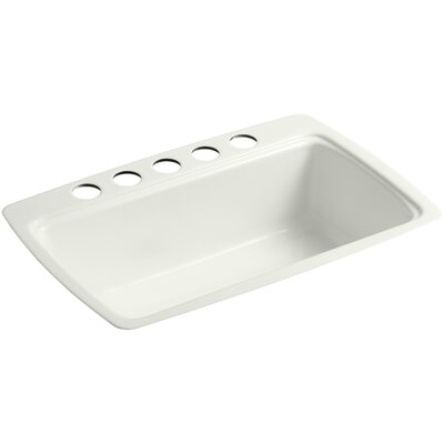 Cape Dory 33 x 22 x 9-5/8 Under-Mount Single-Bowl Kitchen Sink with 5 Oversize Faucet Holes Finish: Dune