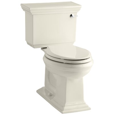 Memoirs Stately Comfort Height Two-Piece Elongated 1.28 GPF Toilet with Aquapiston Flush Technology and Right-Hand Trip Lever Finish: Almond