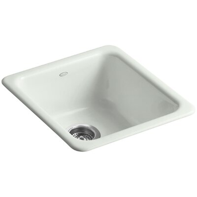 Iron/Tones 17 x 18-3/4 x 8-1/4 Top-Mount/Under-Mount Single-Bowl Kitchen Sink Finish: Sea Salt