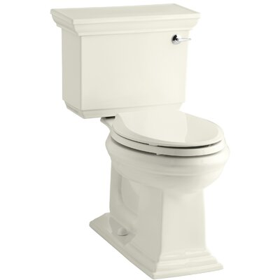 Memoirs Stately Comfort Height Two-Piece Elongated 1.28 GPF Toilet with Aquapiston Flush Technology and Right-Hand Trip Lever Finish: Biscuit