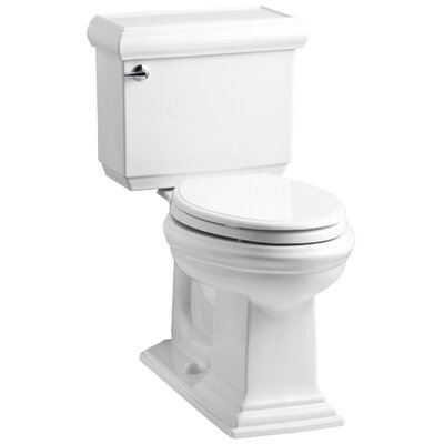 Memoirs Classic Comfort Height Two Piece Elongated 1.6 GPF Toilet with Aquapiston Flush Technology and Left-Hand Trip Lever Finish: White