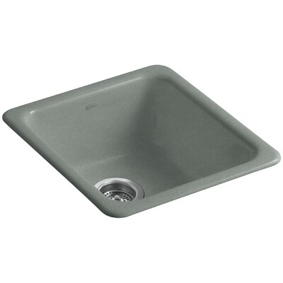 Iron/Tones 17 x 18-3/4 x 8-1/4 Top-Mount/Under-Mount Single-Bowl Kitchen Sink Finish: Basalt