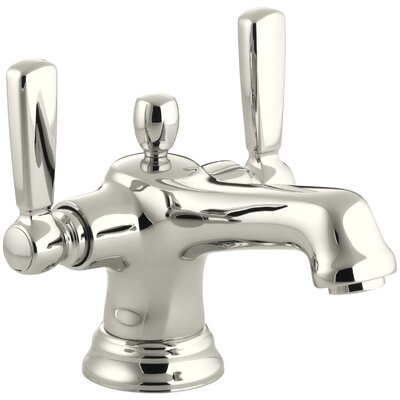 Bancroft� Single hole Double Handle Bathroom Faucet with Drain Assembly Finish: Vibrant Polished Nickel