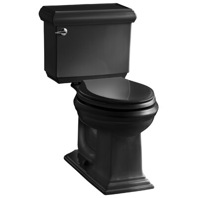 Memoirs Classic Comfort Height Two Piece Elongated 1.6 GPF Toilet with Aquapiston Flush Technology and Left-Hand Trip Lever Finish: Black Black