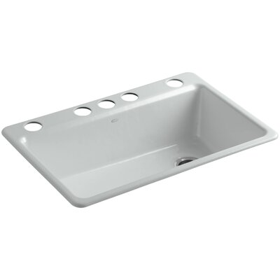 Riverby 33 x 22 x 9-5/8 Under-Mount Single-Bowl Kitchen Sink with Accessories Finish: Ice Grey